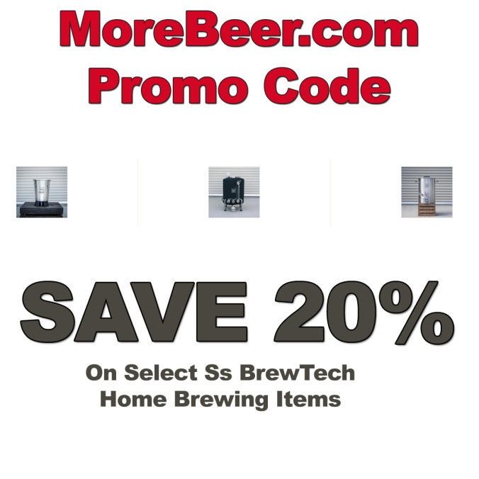 Save 20% on Ss BrewTech Equipment at MoreBeer.com